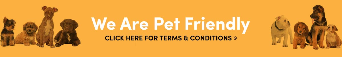 We are Pet Friendly