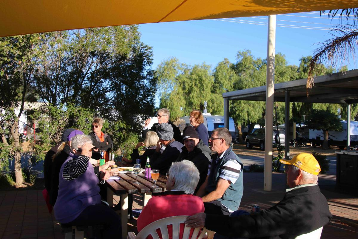 Bikkies'n'Cheese Social Gathering at Broken Hill Tourist Park