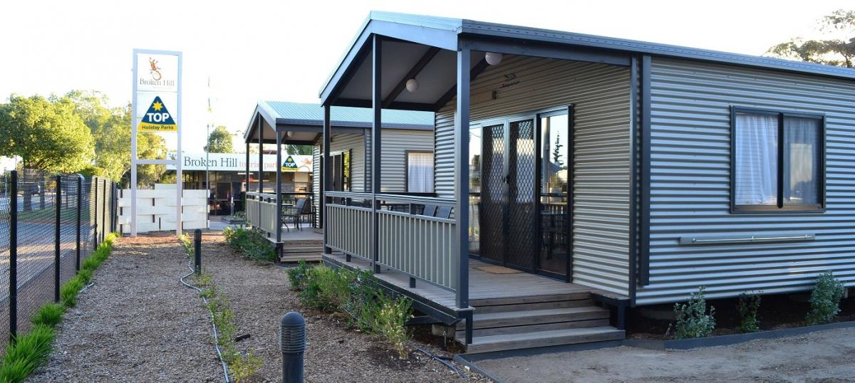 Superior 2 Bedroom Cabins at Broken Hill Tourist Park